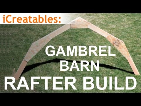 Gambrel Barn Rafter Build - Learn How To Build a Barn Roof!