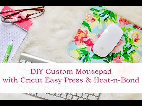 Personalized Mouse Pad with Cricut Easy Press and Heat n Bond