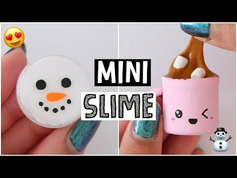 DIY MINI SLIME! Fun & Easy Holiday Slime Recipes!