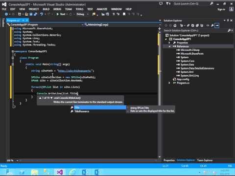 SharePoint Development - Part 1 - Stand Alone Console App