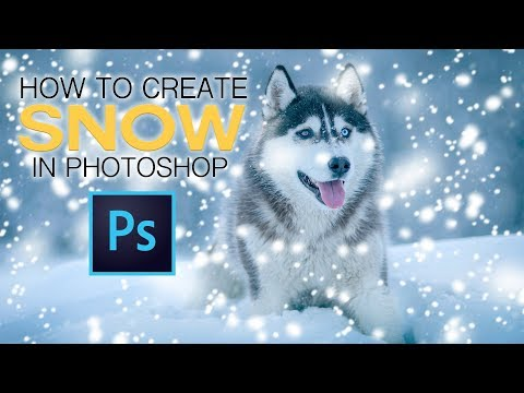 How To Create Snow From Scratch In Photoshop!