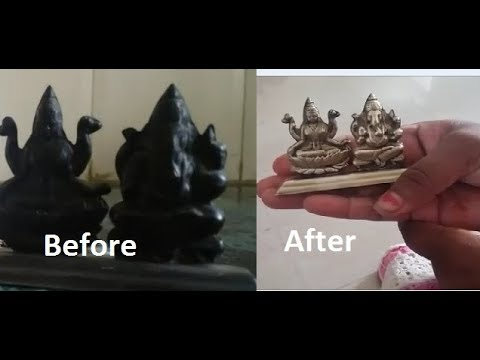 How to Clean Silver Jewellery or Murti Naturally at Home - चाँदी की मूर्ति और आभूषण कैसे चमकाये
