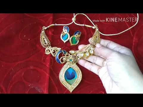 Unboxing gold plated peacock design artificial dulhan jewellery from amazon | latest new jewelleries