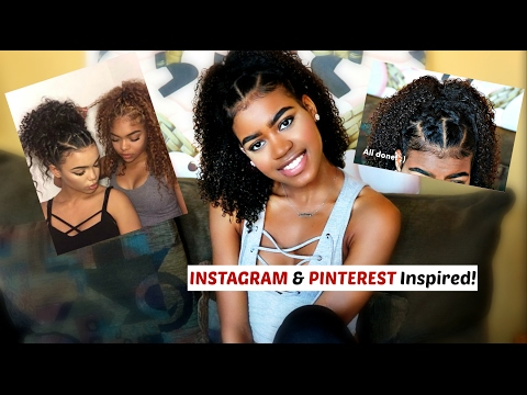 Super CUTE and EASY INSTAGRAM and PINTEREST Inspired Hairstyle for Curly and Natural Hair!