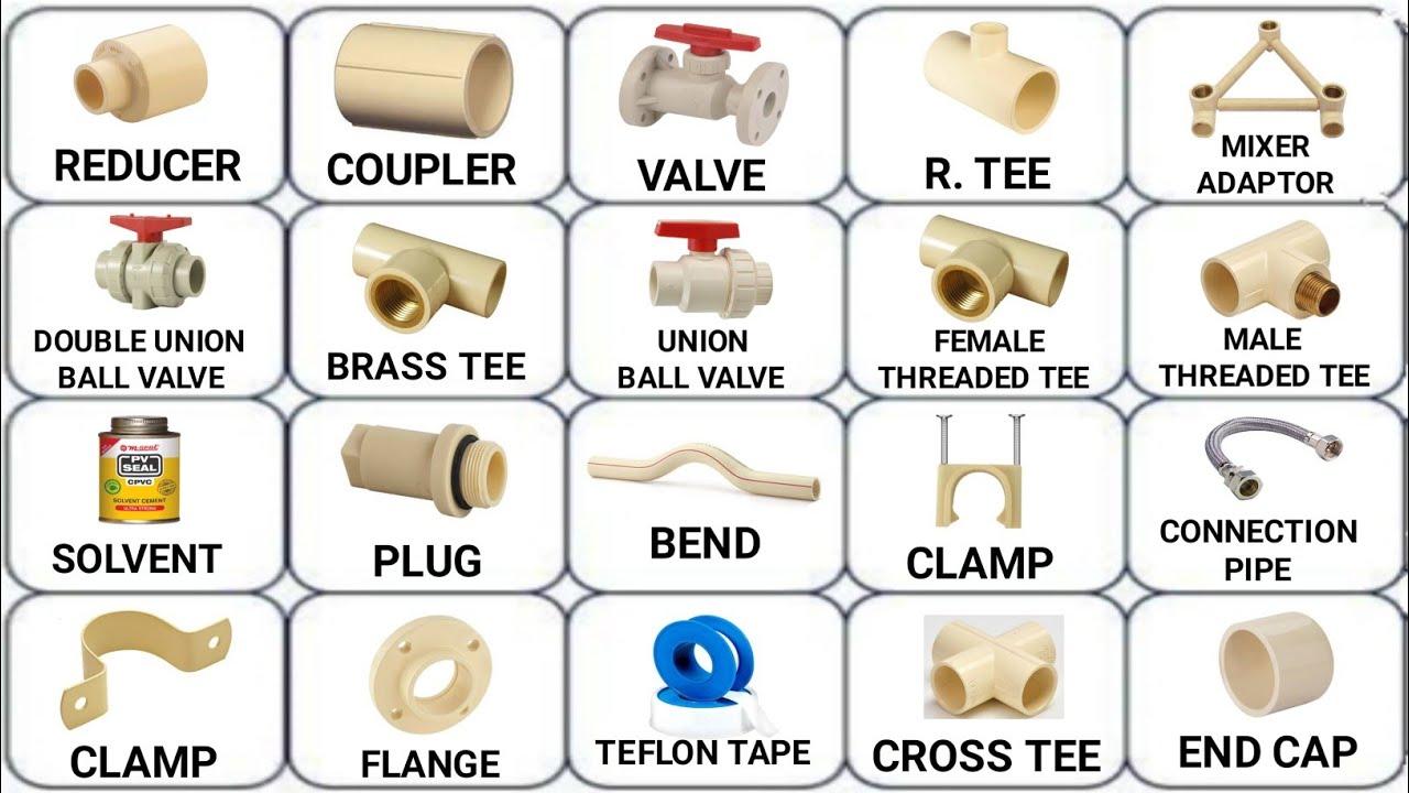 plumbing work materials names ||cpvc pipe fittings || pipe analysis || plumbing basic || Plumbing