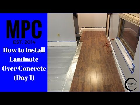 How to Install Laminate Over Concrete (Day 1)