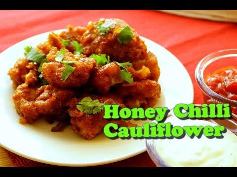 Crispy Honey Chilli Gobi   Veg Appetizer Recipe   HOW TO MAKE CRISPY HONEY CHILLI CAULIFLOWER