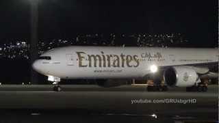 [ Hd ] Emirates B777-31h/er At Rio De Janeiro Galeao - Gig / Sbgl Ge90 Engine Start
