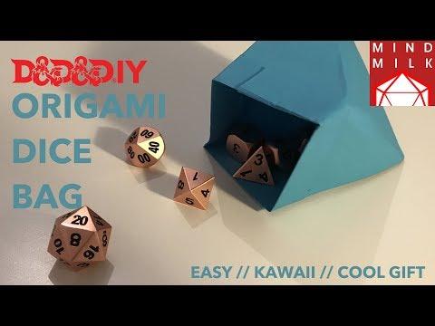 Origami Dice Bag | D&D&DIY