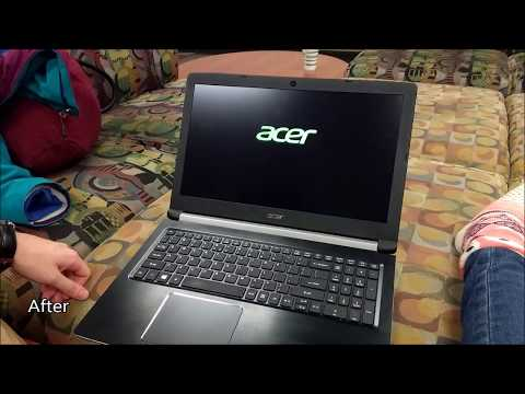 How to replace laptop screen Acer ASPIRE 5 A515-51-3509