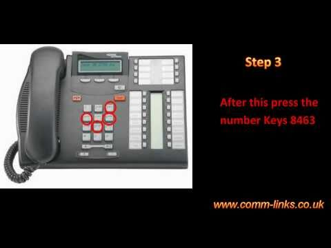 How to change time and date on my Nortel T7316E Phone