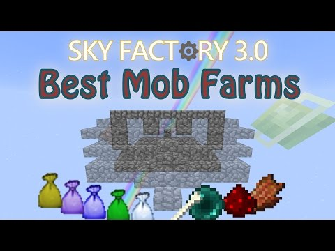 Simple and Effective Mob Farms for Sky Block Modpacks / Sky Factory / Project Ozone (Fun Farms 11)