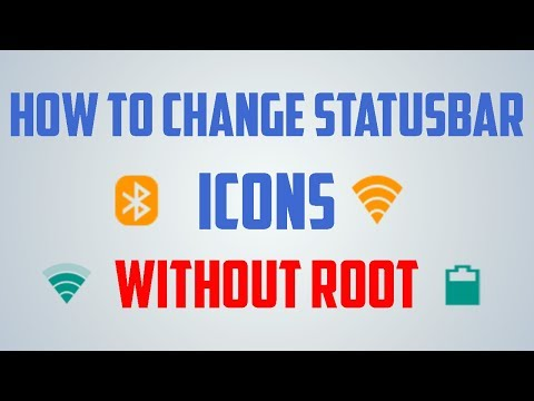How To Change Status Bar Icons Network, Battery, Wifi etc Without Root In Hindi | Any Android Phone