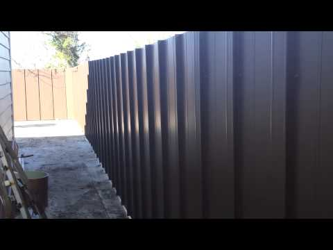 building a metal fence
