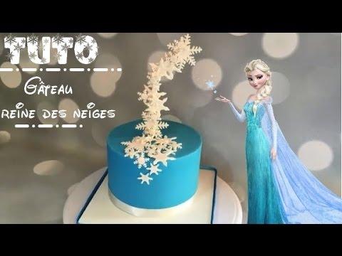 ♡• COMMENT FAIRE UN GATEAU REINE DES NEIGES ? HOW TO MAKE A FROZEN CAKE ?  •♡