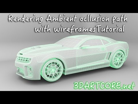Maya Tutorial- How To Render Ambient Occlusion and wireframes using mental ray