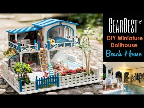 DIY Miniature Dollhouse Kit Beach House