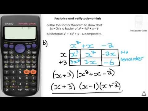 Say Goodbye To Long Division! - Factor Polynomials, Use TRUE/FALSE (Verify) To Check - Casio fx-85GT