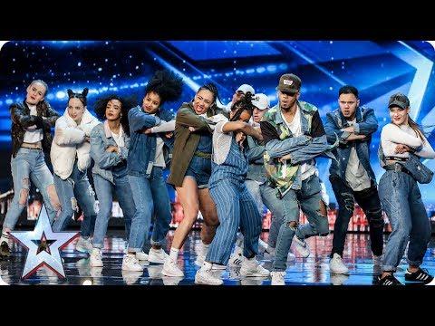 Empire Dance Crew perform Little Mix dance tribute   Auditions Week 7   Britain's Got Talent 2017