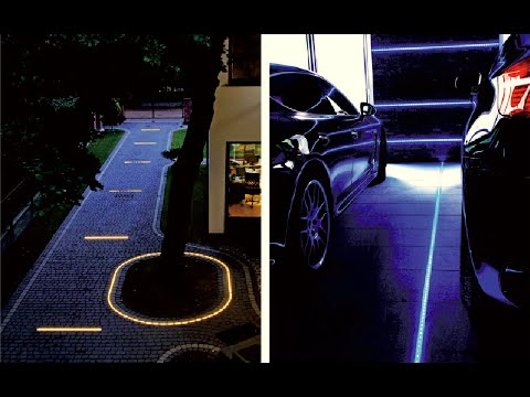DIY how to use the led lights for driveways and patios,cobblestone paths and walks