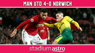 Manchester United 4 - 0 Norwich City  | EPL Highlights | Astro Supersport