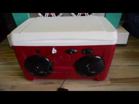 48qt Cooler Radio Ice Chest Radio 48 Can Capacity Very Loud!
