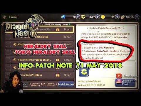 Akhirnya Update !!! Dragon Nest M - Info Patch 31 May 2018 - Toko Heraldry Skill