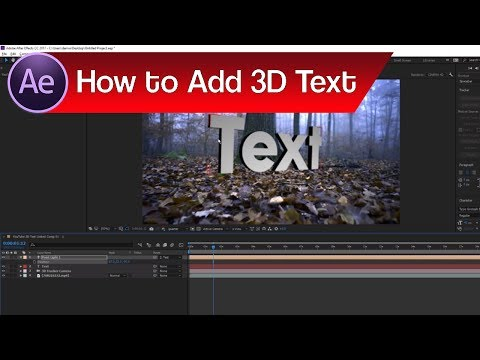 After Effects How to Use Camera Tracking | How to Add 3D Text in After Effects