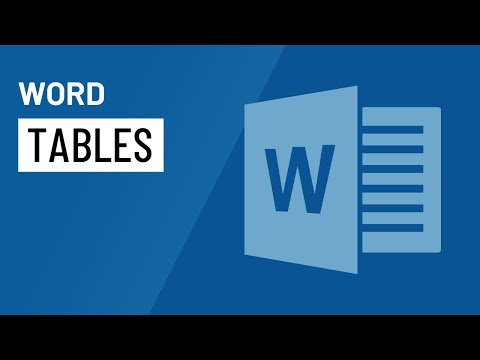 Word 2016: Tables