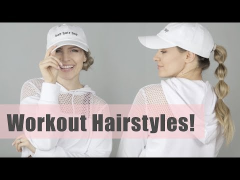 Easy & Quick Workout Hairstyles Tutorial - KayleyMelissa