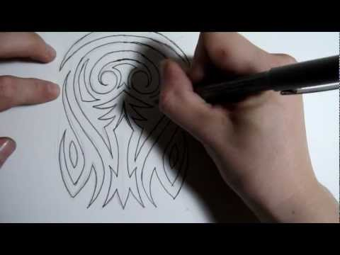 How to Draw a Tribal Half Sleeve Tattoo Design - Part 1