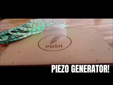 Making footboard piezo power generation.