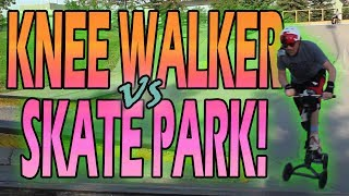 Knee Walker vs Skate Park (Amazon Review)