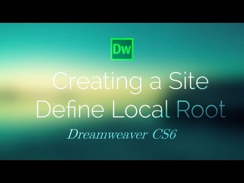 Create a Site (Local Root) - Dreamweaver CS6 Tutorial