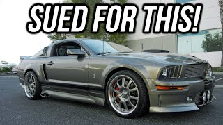If Your Mustang Looks Like This You'll Get SUED! B is for Build Eleanor Mustang Confiscated!