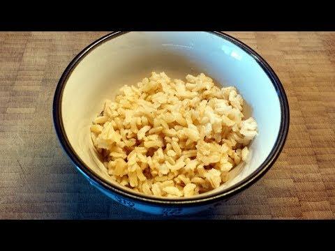 Easy Plain Brown Rice Recipe - Pilaf Method
