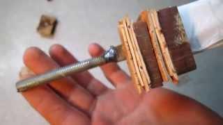 Как сделать рукоять для ножа из подшипника своими руками #3