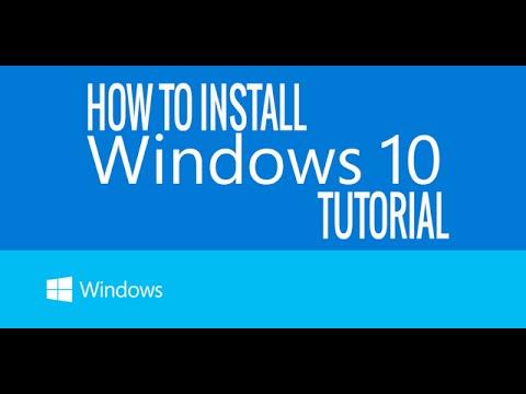 Install windows 10.