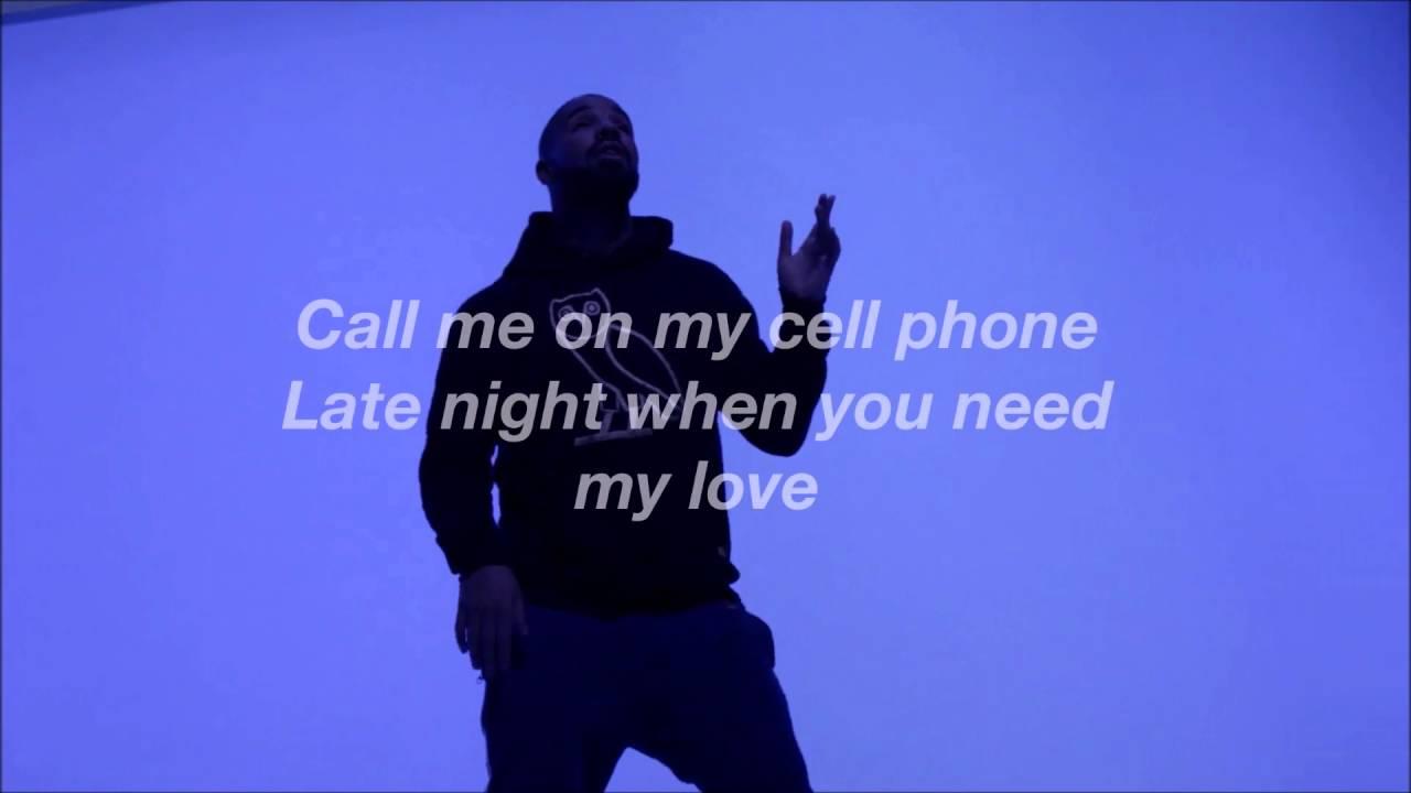 Drake - Hotling Bling Lyric Video