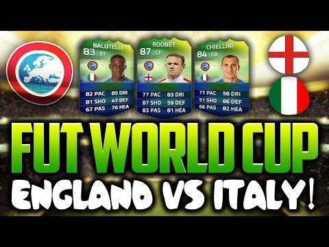 ENGLAND VS ITALY SQUAD! FUT WORLD CUP - FIFA 14!