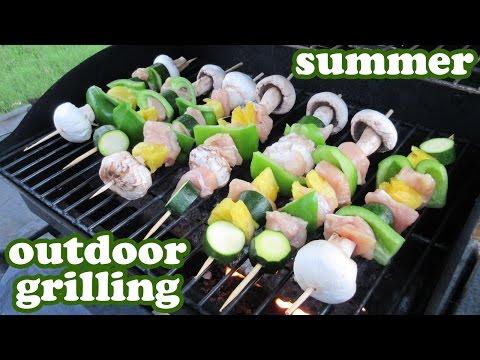 Grilled Veggie Kabobs -Barbeque Grill Chicken Recipe - Outdoor Gas BBQ Grills Recipes Ideas -Jazevox