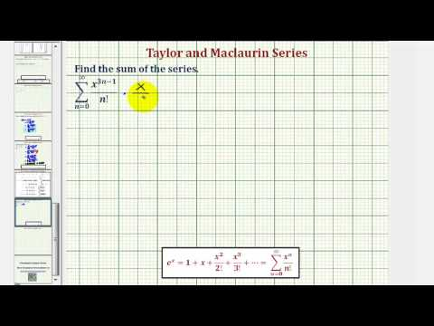 Determine the Function for the Sum of a Power Series (e to the power of x)