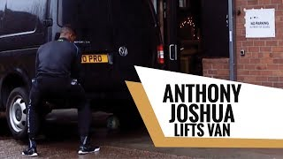 Anthony Joshua Lifts Van to Get Kids Football on RDX Shoot