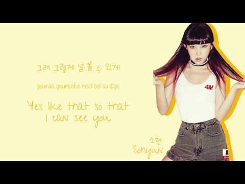 4MINUTE (포미닛) - Canvas Lyrics (Color-Coded Han/Rom/Eng)