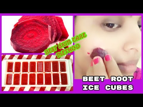 Beetroot ice cubes for skin whitening- best skincare for summer