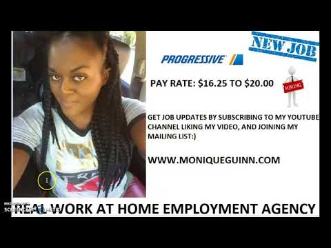 PROGRESSIVE HIRING WORK AT HOME AGENTS PAY $16.25 -$20 HOUR