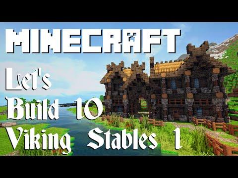 Minecraft Let's Build 10: Viking Stables (Part 1)