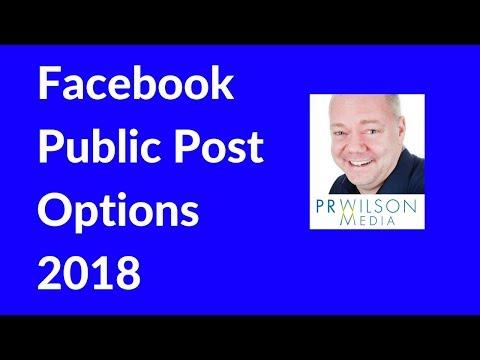 Facebook public posts 2018