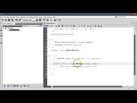 Hello World in Java using NetBeans