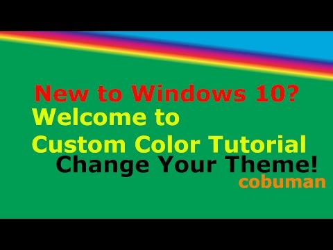 How to Change Windows 10 Color Accent, Theme and Icon Size  – Beginner Tutorial